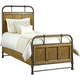 Broyhill New Vintage Twin Bedstead Bed in Brown