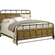 Broyhill New Vintage Queen Bedstead Bed in Vintage Brown