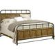 Broyhill New Vintage King Bedstead Bed in Vintage Brown