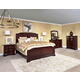 Broyhill Elaina Panel Bedroom Set in Rustic Cherry