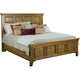 Broyhill New Vintage California King Panel Bed in Vintage Brown