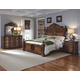 Pulaski Furniture Cheswick 4 Piece Poster Bedroom Set in Brown