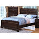 New Classic Garrett California King Panel Bed in Chestnut