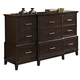 New Classic Highland Park Dresser in Distressed Walnut 00-128-050