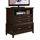 New Classic Highland Park Media Chest in Distressed Walnut 00-128-078