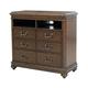 Pulaski Furniture Montgomery Media Chest in Brown 698145
