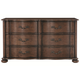 Bernhardt Eaton Square Six Drawer Dresser in Harvest Brown 352-043