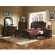 New Classic Highland Park Sleigh Bedroom Set in Distressed Walnut