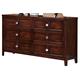 New Classic Ridgecrest Dresser in Distressed Walnut 00-131-050