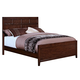 New Classic Ridgecrest King Panel Bed in Distressed Walnut