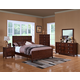 New Classic Ridgecrest Panel Bedroom Set in Distressed Walnut