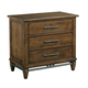 Kincaid Bedford Park 3-Drawer Nightstand in Hazelnut 74-141