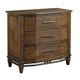 Kincaid Bedford Park 3-Drawer Canted Chest in Hazelnut 74-142