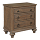 Kincaid Weatherford 3-Drawer Nightstand in Grey Heather 76-141