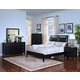 New Classic Selena Sleigh Bedroom Set in Black