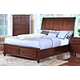 New Classic Spring Creek Cal King Sleigh Storage Bed in Tobacco