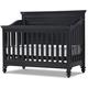 Universal Smartstuff Black & White Crib in Ebony 437B310
