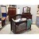Universal Smartstuff Classics Nursery Crib Set in Saddle Brown