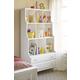 Universal Smartstuff Black & White Bookcase in Creamy White 437A018
