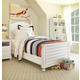 Universal Smartstuff Black & White Twin Reading Bed in Creamy White 437A038