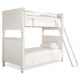 Universal Smartstuff Black & White All American Twin Bunk Bed in Creamy White 437A530 CLOSEOUT