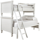 Universal Smartstuff Black & White All American Twin Over Full Bunk Bed in Creamy White 437A590