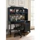 Universal Smartstuff Black & White Student Desk w/ Hutch in Ebony 437B027 CLOSEOUT