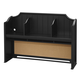 Universal Smartstuff Black & White Desk Hutch in Ebony 437B020 CLOSEOUT