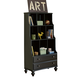 Universal Smartstuff Black & White Bookcase in Ebony 437B018 CLOSEOUT