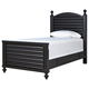 Universal Smartstuff Black & White Twin Reading Bed in Ebony 437B038 CLOSEOUT