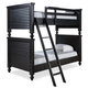 Universal Smartstuff Black & White All American Twin Bunk Bed in Ebony 437B530 CLOSEOUT
