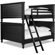 Universal Smartstuff Black & White All American Full Bunk Bed in Ebony 437B540