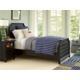 Universal Smartstuff Black & White Panel Bedroom Set in Ebony