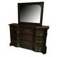American Drew Casalone Drawer Dresser in Dark Walnut 410-130