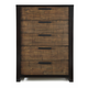 Casana Axel 5 Drawer Chest in Dark Mahogany 265-435