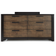 Casana Axel 6 Drawer Dresser in Dark Mahogany 265-456