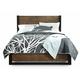 Casana Axel Queen Panel Platform Bed in Dark Mahogany 265-901KQ