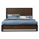 Casana Axel King Panel Platform Bed in Dark Mahogany 265-911KK