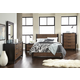 Casana Axel 4 Piece Panel Platform Bedroom Set in Dark Mahogany