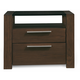 Casana Hudson 2 Drawer Nightstand in Deep Licorice 525-432