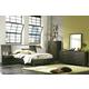 Casana Hudson Upholstered Platform with Panel Nightstands Bedroom Set in Deep Licorice