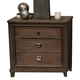 American Drew Park Studio Drawer Nightstand in Light Oak 488-420