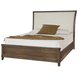 American Drew Park Studio King Upholstered Sleigh Bed in Light Oak