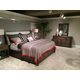 American Drew Park Studio Upholstered Sleigh Bedroom Set in Light Oak