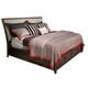 American Drew Park Studio King Upholstered Storage Sleigh Bed in Light Oak
