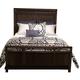 American Drew Park Studio King Storage Panel Bed in Light Oak