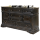 American Drew Manchester Court 6 Drawer Door Dresser in Tuscan Smoke 407-131