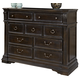 American Drew Manchester Court 9 Drawer Media Dresser in Tuscan Smoke 407-225