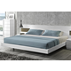 J&M Amora Queen Platform Bed in White Lacquer 17869-Q