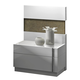 J&M Amora Nightstand in White Lacquer 17869-NS